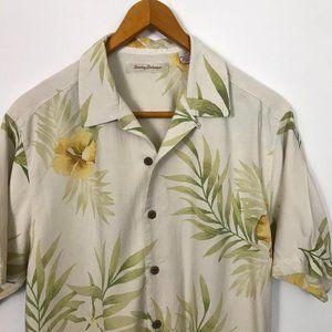 Tommy Bahama M-Color Short Sleeve L Floral Silk